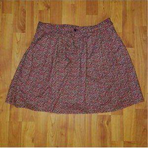 Gap Multicolor Floral Tie Belt Flared Skirt